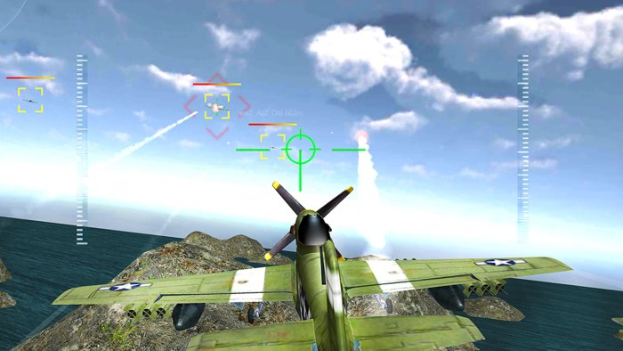 3D WW2 Pacific Fighter Attack