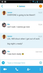Skype на андроид