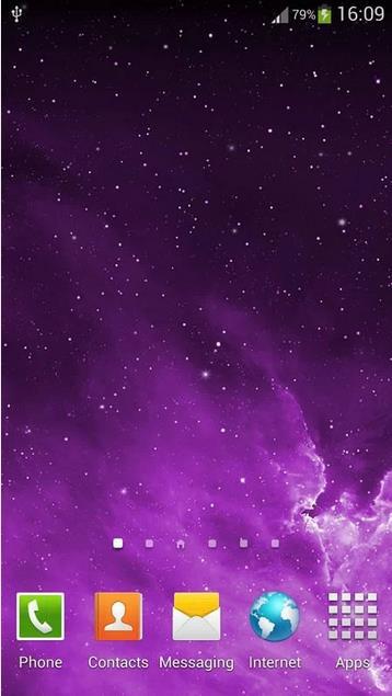 Галактика iOS7 живые обои