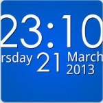 Простые цифровые часы на Андроид