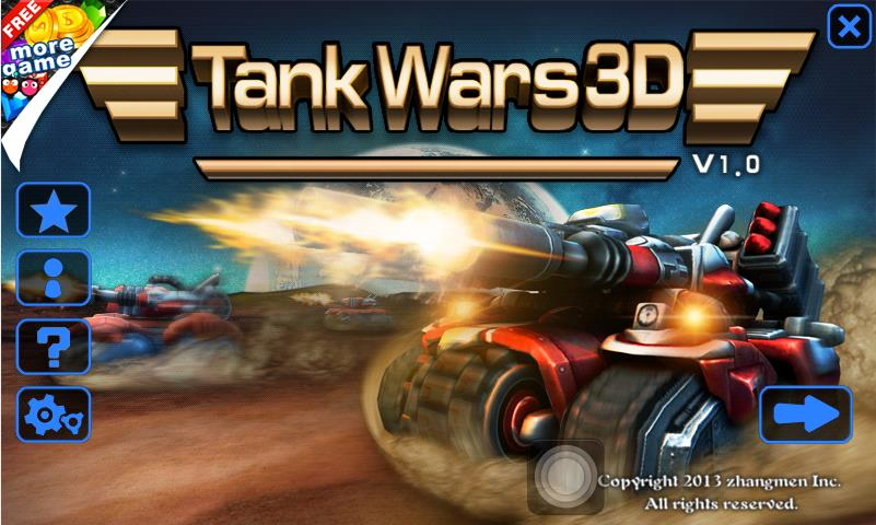 Tank World War 3D на Андроид