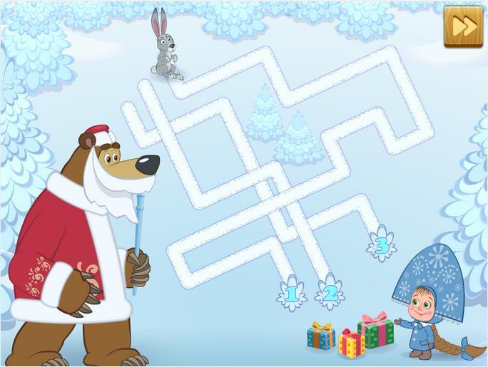 Маша и Медведь: Подарки на Андроид