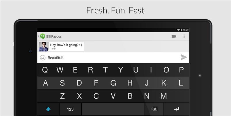 Fleksy Keyboard - Happy Typing на Андроид