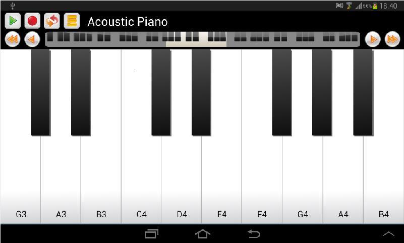 Real Piano and Keyboard