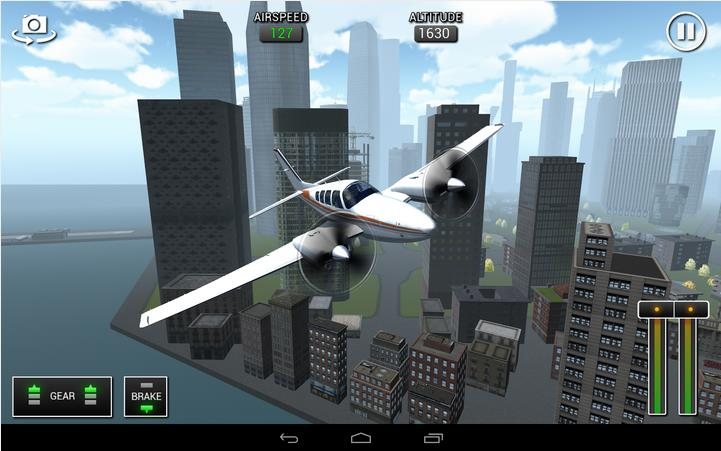 Flight Sim BeachCraft City на Андроид