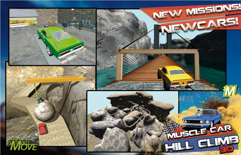 3D Hill Climb Muscle Cars 2014 на Андроид