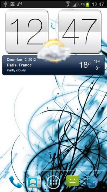 часы с погодой для Андроид