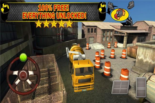 Constructing Parking 3D Truck