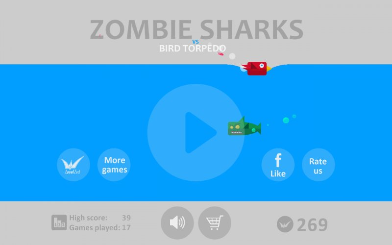 Зомби Акулы vs Птички Торпеды
