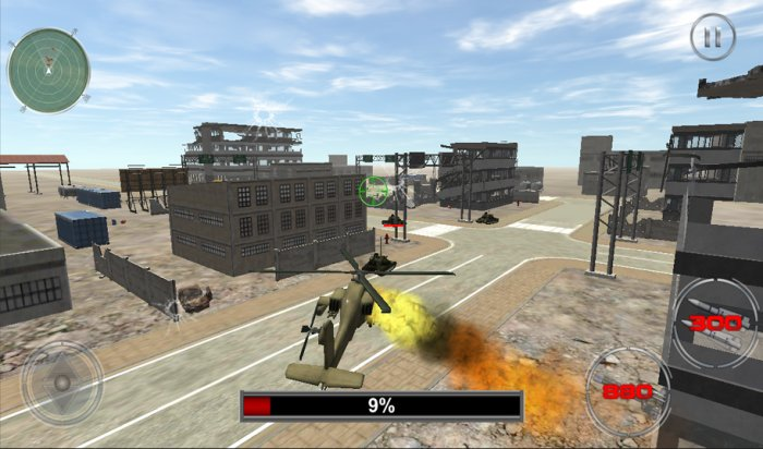 Helicopter Tanks War