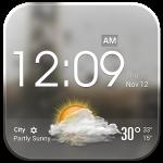 Transparent Glass Clock Widget – красивый виджет погоды