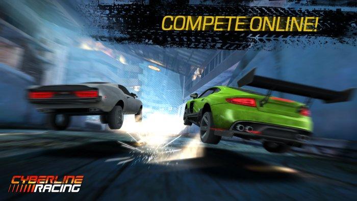 Скачать Cyberline Racing на Андроид