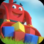 Digger Joe Bulldozer for kids – головоломка с игрушечным трактором
