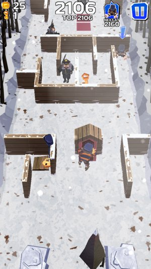 Winter Fugitives: stealth game