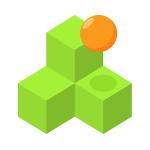 Qubes – помоги шарику спуститься с горки