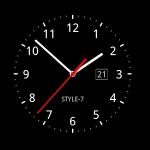 Analog Clock Live Wallpaper-7 – живые обои в виде часов