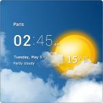 Transparent weather clock – прозрачные часы и погода