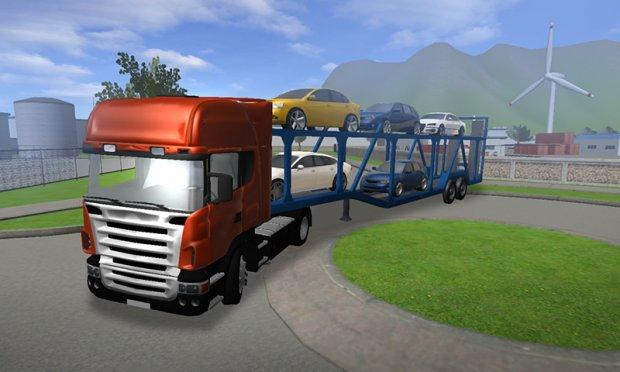 Car Transporter Truck Parking