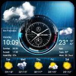 Прогноз погоды и часы виджет