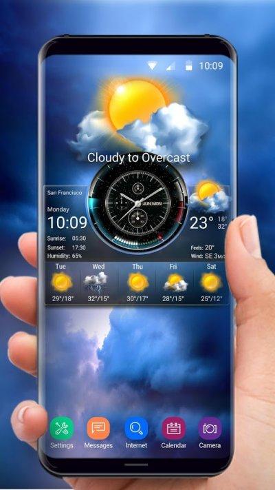 этот картинки на телефон с часами и погодой предлагают множество вариантов
