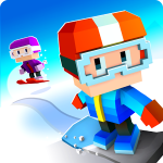 Blocky Snowboarding – пиксельная аркада